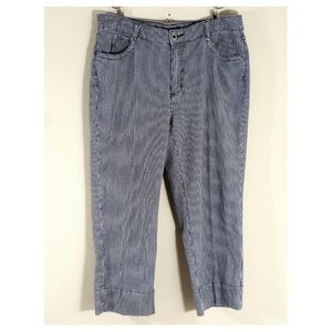 CHICO'S Charcoal Gray Stripe Denim Jeans